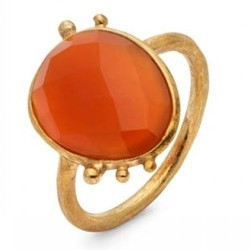 Wow Indianna Jewellers Hot Carnelian Gemstone Micron Plated Ring Pretty Style Model