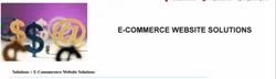 E-Commerence Website Solutions
