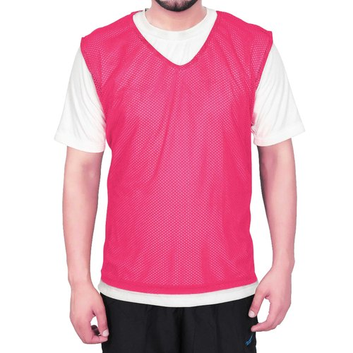 Sas Sports Small Sized Training Bibs Scrimmage Vests Pennies For Soccer Pack Of 6 (Pink )