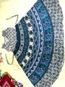 Ladies Blue Print Kurti