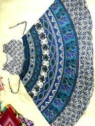 Ladies Blue Print Kurti