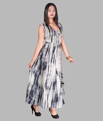 aeef3bd295 Cotton Printed Full Length Dress