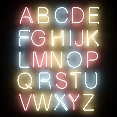 8 Week Neon Lettering