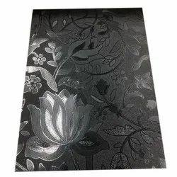 Rexine Printed Black Scooty Designer Seat Cover