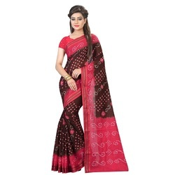 Ramapir Fashion Women's Wear Bandhani Border Saree
