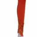Lycra Cotton Lace Legging, Size: Free Size