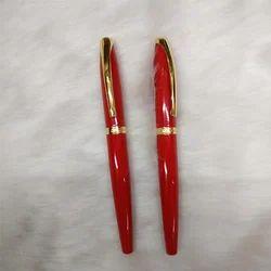 Red Metallic Ball Pen