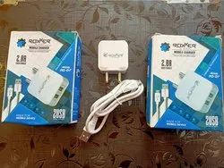 1 Mtr White Roxxer charger 2.8 amp charger
