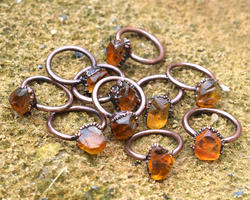 Citrine Rough Stone Rings
