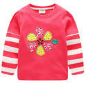 Pink Applique Floral Full Sleeves Top
