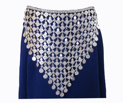 Coin Fringe Hip Waist BELT Skirt Pants Scarf Navratri Garba Dance