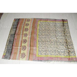 Hand Block Printed Silk Saree
