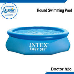 Blue Outdoor Round Swimming Pool, For Amusement Park