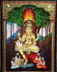 Dhaksnamoorthy Tanjore Painting