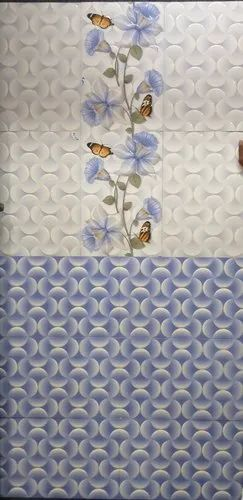 Blue And White Ceramic Tiles Bathroom Wall Tile Thickness 5 10 Mm 8 Pcs Rs 20 Square Feet Id 15765455548