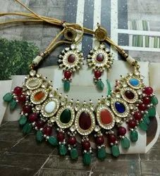 Vardhaman Goodwill Golden Kundan Necklace Sets