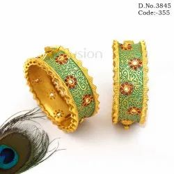 Antique Meenakari Mint Green Bangles