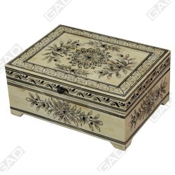 Enamor Bone Jewelry Box - Bone Inlay Furniture By Galaxy Art Deco