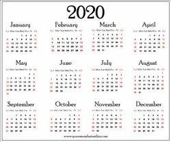 2021 Calender