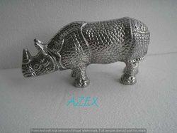 Decorative Metal Rhino Statues