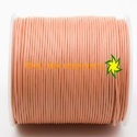 Peach Round Leather Cord Thread Strip