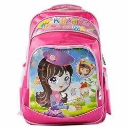 Polyester Kids Girls Printed School Bag, Capacity: 37L
