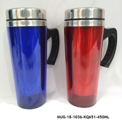 Stainless Steel Insulated Travel Mug with Sipper Lid -MUG-18
