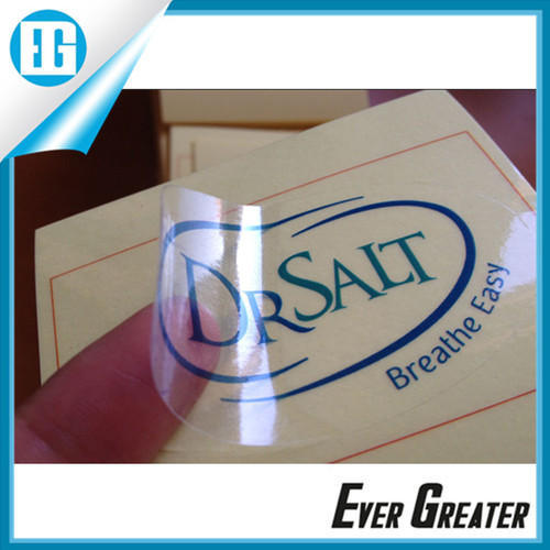 Clear pvc color sticker