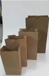 Flat Bottom Paper Grocery Bag