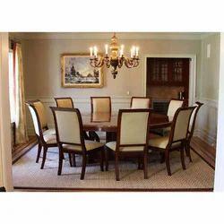 Cream Brown Teak Wood Dining Table Set Rs 55000 Set Modern Timber Industries Id 7448762573