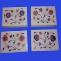 Handcrafted Indian Floral Marble Inlay Jewelry Box