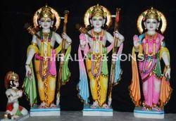 Polished Marble Ram Darbar Statue