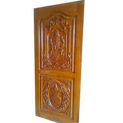 Pinewood Door, Size/Dimension: 7*4 Feet
