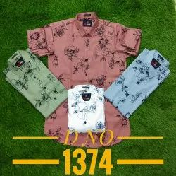 Printed Formal Wear Mens Fancy Cotton Casual Shirt