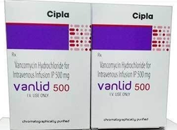 Vancomycin Hydrochloride for Intravenous Infusion IP 500 mg