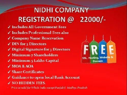 Nidhi Company Registration Service, Location: Pan India   ID