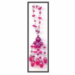 Pink Beaded Tassels