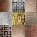 Mirror Gold Etching Decorative Stainless Steel Sheet