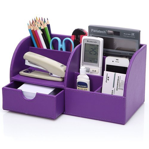 Office & School Supplies Provided Multifunctional Office Desktop Decor Storage Box Leather Stationery Organizer Pen Pencils Remote Control Mobile Phone Holder Ideal Gift For All Occasions
