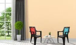 Diya With Hand Rest (Arms) Rising Plastic Chair, Warranty: 1 Year