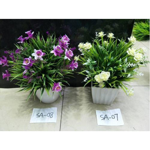 plastic artificial outdoor flowering plant, rs 500 /piece | id
