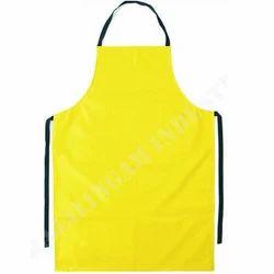 Small And Medium Yellow Safety PVC Apron, Hospital, Laboratory