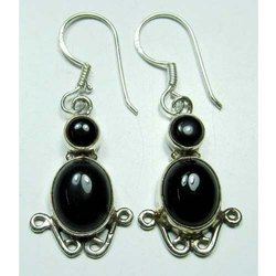 Black Onyx 925 Sterling Silver Fashion Earrings