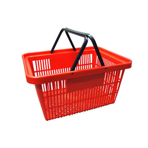 Plastic Blue And Green Shopping Basket