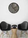 999Store Printed Grey Marble Wall Clock