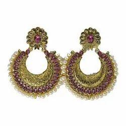 Copper Traditional Dangler Earrings