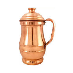 Pure Copper Jug, For Home, Capacity: 1 Ltr