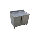 SS Work Station with Liquid Storage Lockable Cabinet