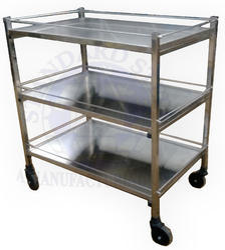 standard steel Surgical instrument Trolley