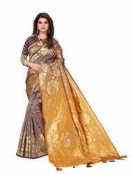 N-31 Trendy Jacquard Silk Saree